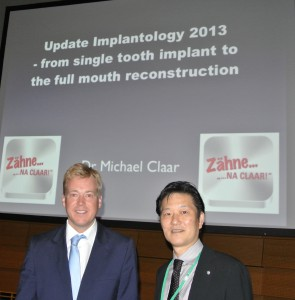 Dr. Michael Claar mit dem Präsidenten der Society of Japan Clinical Dentistry in Osaka,2013