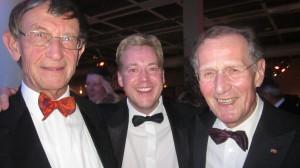 Dr. Claar trifft Heinz Riesenhuber (l.) und Bert Rürup (r.)