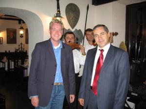 Herr Benderschi begrüßt Dr. Michael Claar in Moldawien