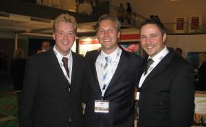 Dr. Marc Hausamen, Dr. Marcus Parschau und Dr. Michael Claar beim DGOI-Kongress 2008 in München